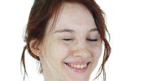 Blinzeln von Augen des jungen Mädchens Stockbilder