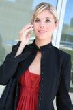 Blionde Geschäftsfrau Lizenzfreie Stockbilder