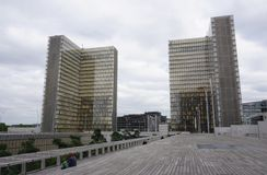 The Bliotheque Nationale Francois Mitterrand in Paris Royalty Free Stock Photo