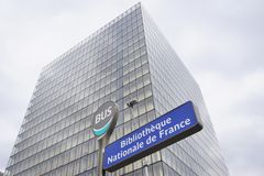 The Bliotheque Nationale Francois Mitterrand in Paris Stock Image