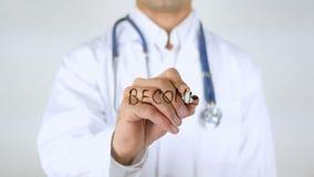 Blir en givare, doktor Writing på exponeringsglas lager videofilmer
