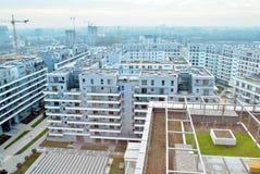 Bliska Wola 现代住宅区在华沙Wola有名望的区  图库摄影