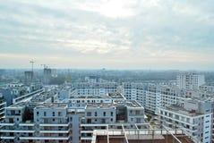 Bliska Wola 现代住宅区在华沙Wola有名望的区  库存照片