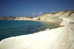 Blisko Agrigento schodek biały turecka faleza Zdjęcie Royalty Free