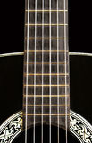 blisko akustyczną gitarę. obraz stock