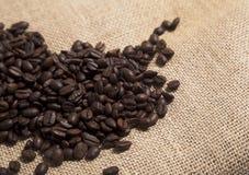 blisko burlap fasolę kawy, Fotografia Stock