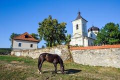 Blisko ścian Capriana monaster, Moldova Obraz Royalty Free