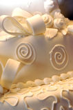 blisko ciasta na ślub Obraz Royalty Free