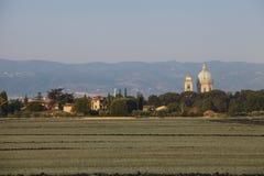 Blisko do Assisi Umbria kościół Zdjęcia Royalty Free
