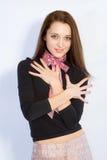 blisko dziewczyn ręce Zdjęcie Royalty Free