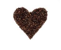 blisko fasolę kawa wystrzelona Zdjęcie Royalty Free