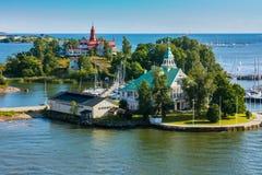 blisko Finland wyspy Helsinki Fotografia Royalty Free