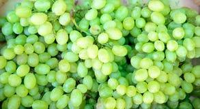 blisko klastrów w górę białych winogron Fotografia Stock
