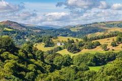 Blisko Llangollen, Denbighshire, Walia, UK zdjęcie royalty free