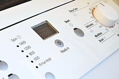 blisko maszyna wystrzelona z mycia Obraz Stock