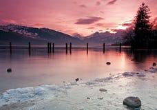 blisko milczków jeziora Zdjęcia Royalty Free
