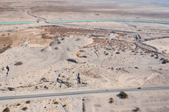 blisko morza pustynia nieżywy krajobraz Obraz Stock