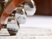 blisko oświetlenia muzyczne notaci muzyczny druku stary arkusza ciepła Obraz Royalty Free