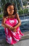 blisko oka dziewczyna fontann Obraz Stock