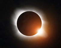 blisko otwory rogu mlecz dysk zaćmienia słońca obrazu f16 naturalne silny vignetting Obrazy Royalty Free