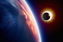 blisko otwory rogu mlecz dysk zaćmienia słońca obrazu f16 naturalne silny vignetting Obraz Royalty Free