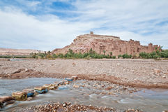 blisko ounila rzeki Ait haddou Ben Morocco Zdjęcia Royalty Free