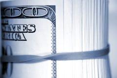 blisko pieniężna roll Zdjęcie Stock