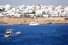 blisko rekreacyjnych czerwieni rafy morza jachtów obrazy royalty free