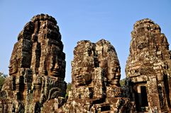 blisko riep bayon Cambodia siem świątyni Zdjęcie Stock