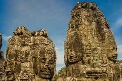 blisko riep bayon Cambodia siem świątyni Obrazy Stock