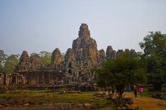 blisko riep bayon Cambodia siem świątyni Zdjęcie Royalty Free