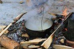 blisko ryby strzały zupy, Fotografia Stock