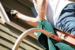 blisko się sprzątacza spryskiwacza szyby Zdjęcie Royalty Free