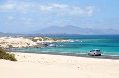 blisko Spain brzegowy corralejo Fuerteventura Zdjęcie Royalty Free