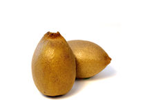 blisko tła owoce kiwi wolny biały się nad Fotografia Stock