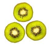 blisko tła owoce kiwi wolny biały się nad Plasterek odizolowywający na białym tle kiwi owoc Obraz Royalty Free