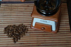 blisko tła ziarna kawy odosobnioną zdjęcie w bieli Obraz Stock