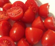 blisko tła pomidory, odizolowane white Fotografia Stock
