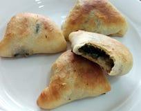 Bliskowschodni szpinaków ciasta - Fatayer bel Sabaneh Obraz Royalty Free