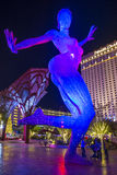 Bliss Dance Sculpture i Las Vegas Arkivfoton