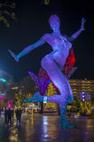 Bliss Dance Sculpture in Las Vegas Stockfoto