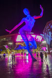 The Bliss Dance Sculpture in Las Vegas. LAS VEGAS -NOV 24 : The Bliss Dance Sculpture display at the T-Mobile park in Las Vegas on November 24, 2016. The 40-foot stock photography