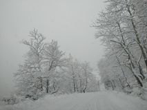 Bliss. Greece snow mountains nature royalty free stock images