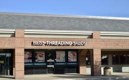 Bliss Threading Salon, Fort Worth, il Texas fotografia stock libera da diritti