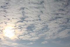 Blissful sky. Image of sunny sky Stock Photo