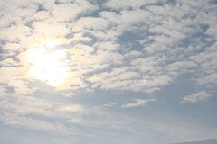 Blissful sky. Image of sunny sky Royalty Free Stock Photography