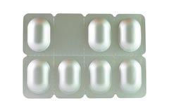 Blister dell'alluminio di sette compresse Fotografia Stock
