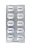 Blister di alluminio isolato su bianco Immagini Stock Libere da Diritti