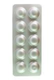 Blister di alluminio su bianco Fotografia Stock