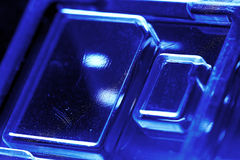 Blister di plastica per il chip memoria Fotografia Stock